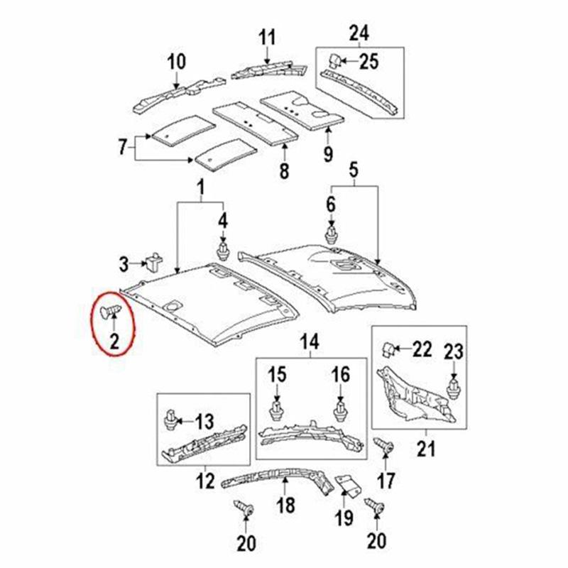 20Roof Headliner Clip Trim Panel Retainer Nylon Fastener