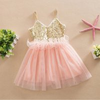 Sequins Tutu Dress Princess Girls Kids Baby Wedding Party