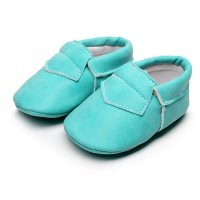 Infants Baby Boys Girls Soft Crib Denim Shoes Leather