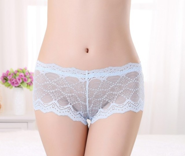 Womens Sexy See Through Lace Panties Briefs Boyshorts