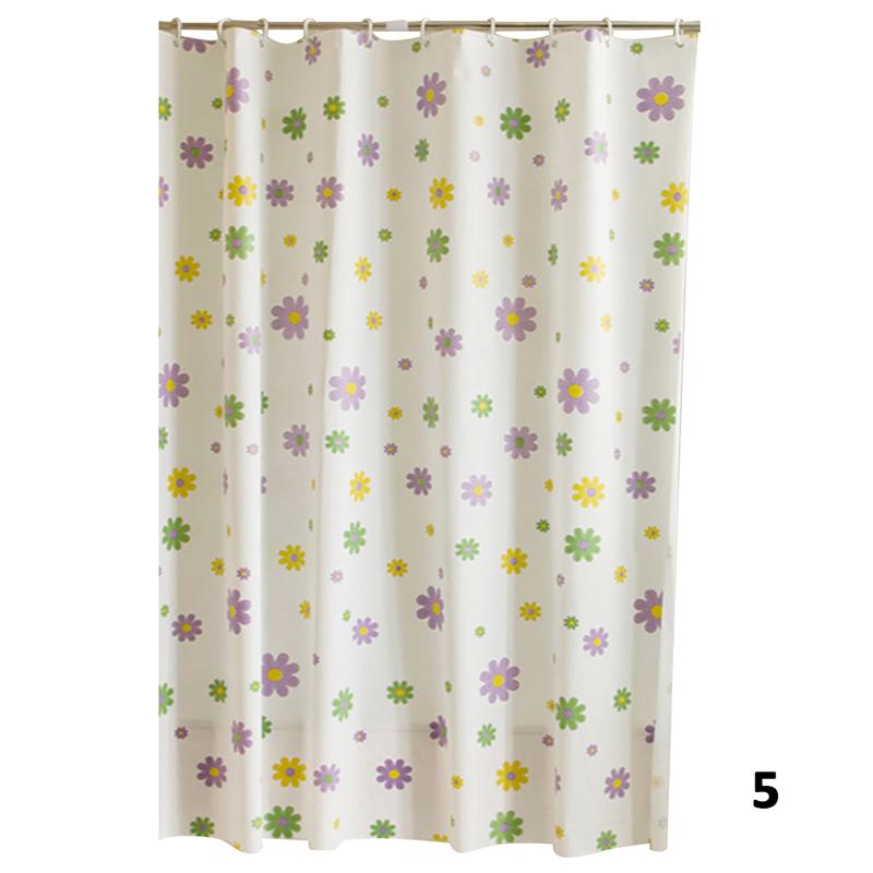 Modern Designer Sea Shell PEVA Bathroom Shower Curtain 12