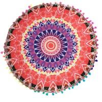 Indian Mandala Floor Pillows Round Bohemian Cushion
