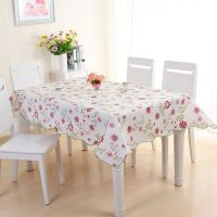 Table Cover Protector Wipe Clean PEVA Tablecloth Dining ...