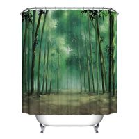 Modern Designer Polyester Bathroom Shower Curtain with 12 ...