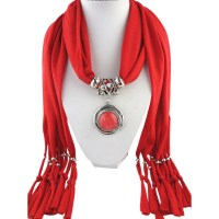 Pendant Necklace Scarf Charm Jewelry Necklace Scarves ...