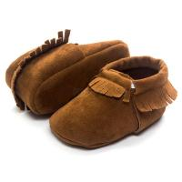 Baby Kids Soft Sole Moccasin Toddler Boys Girls Suede