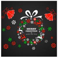 Merry Christmas Ball Removable Wall Stickers Decal Mural ...