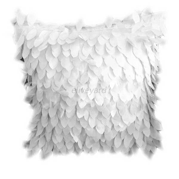 Fashion Fallen Leaves Leaf Feather Throw Pillow Cover