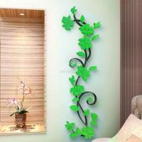 3D Vase Flower Tree DIY Removable Art Vinyl Wall Stickers