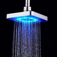 LED Light 6'' Square Auto Color Changing Shower Heads Home ...
