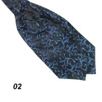 Mens Trendy Ascot Tie Cravat Neck Tie Satin Scarf Party