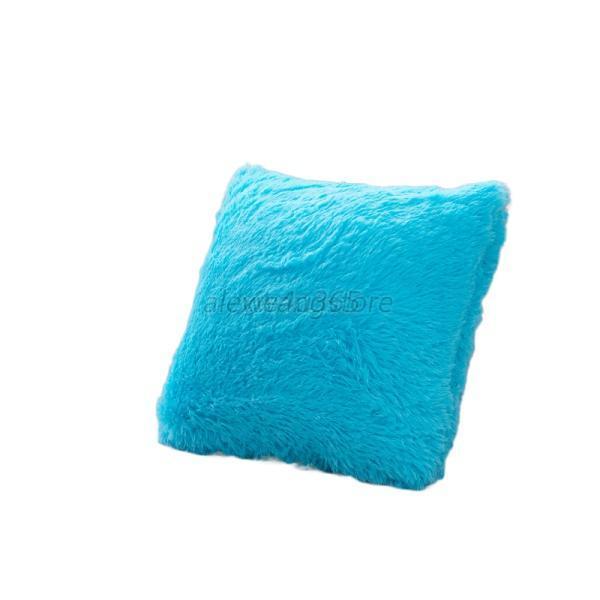 Soft Plush Faux Fur Fleece Pillows Case Cushion Cover