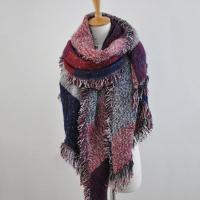 Womens Vintage Scarf Thicken Wool&Cotton Neck Stole Winter
