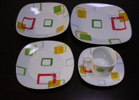 20pcs Porcelain Square Plate