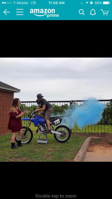exhaust gender reveal glow