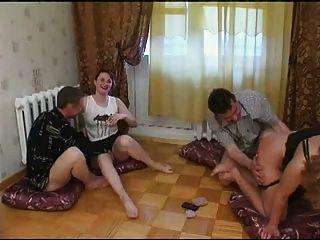Russian Strip Poker Swinger Couples 1