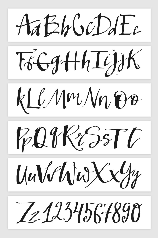 手寫潦草英文字母數字設計元素下載_【包圖網】