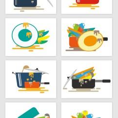 Kitchen Pot Sets Steamer 卡通杂乱厨房锅具碗具矢量图形模板下载 1920x1080像素 包图网 卡通杂乱厨房锅具碗具矢量图形图片