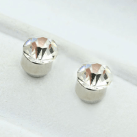 Chic Fashion 5mm Diamond Non Piercing Clip on Magnetic Ear ...