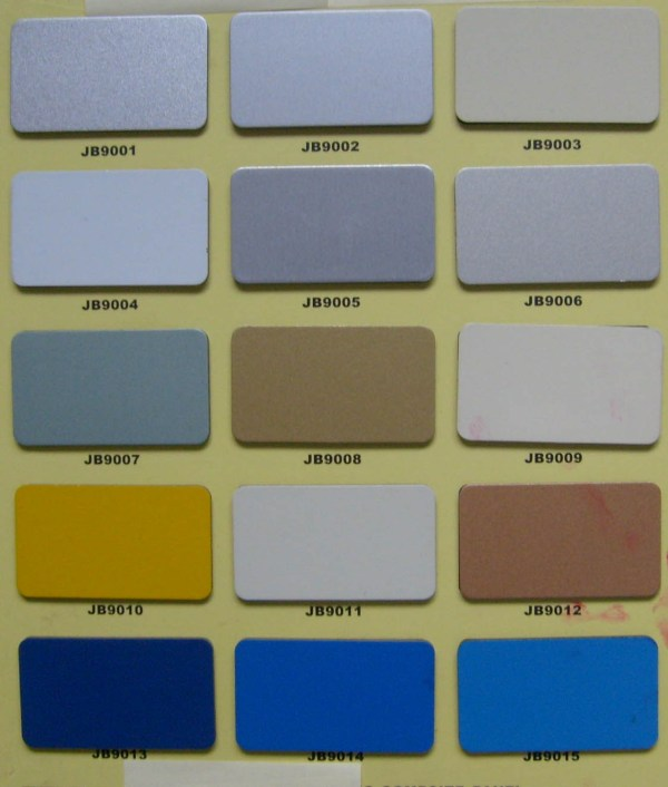 Reynobond Color Chart Metal Panels - Year of Clean Water