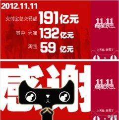 20111111天猫与淘宝销售记录