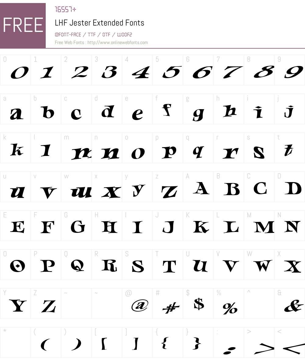 Download LHF Jester Extended (1) www.letterheadfonts.com Fonts Free ...