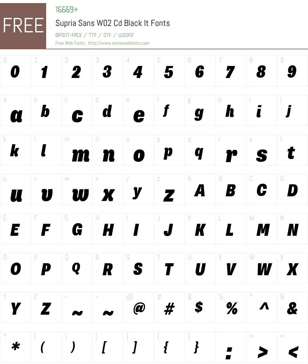Supria Sans W02 Cd Black It 1.1 Fonts Free Download