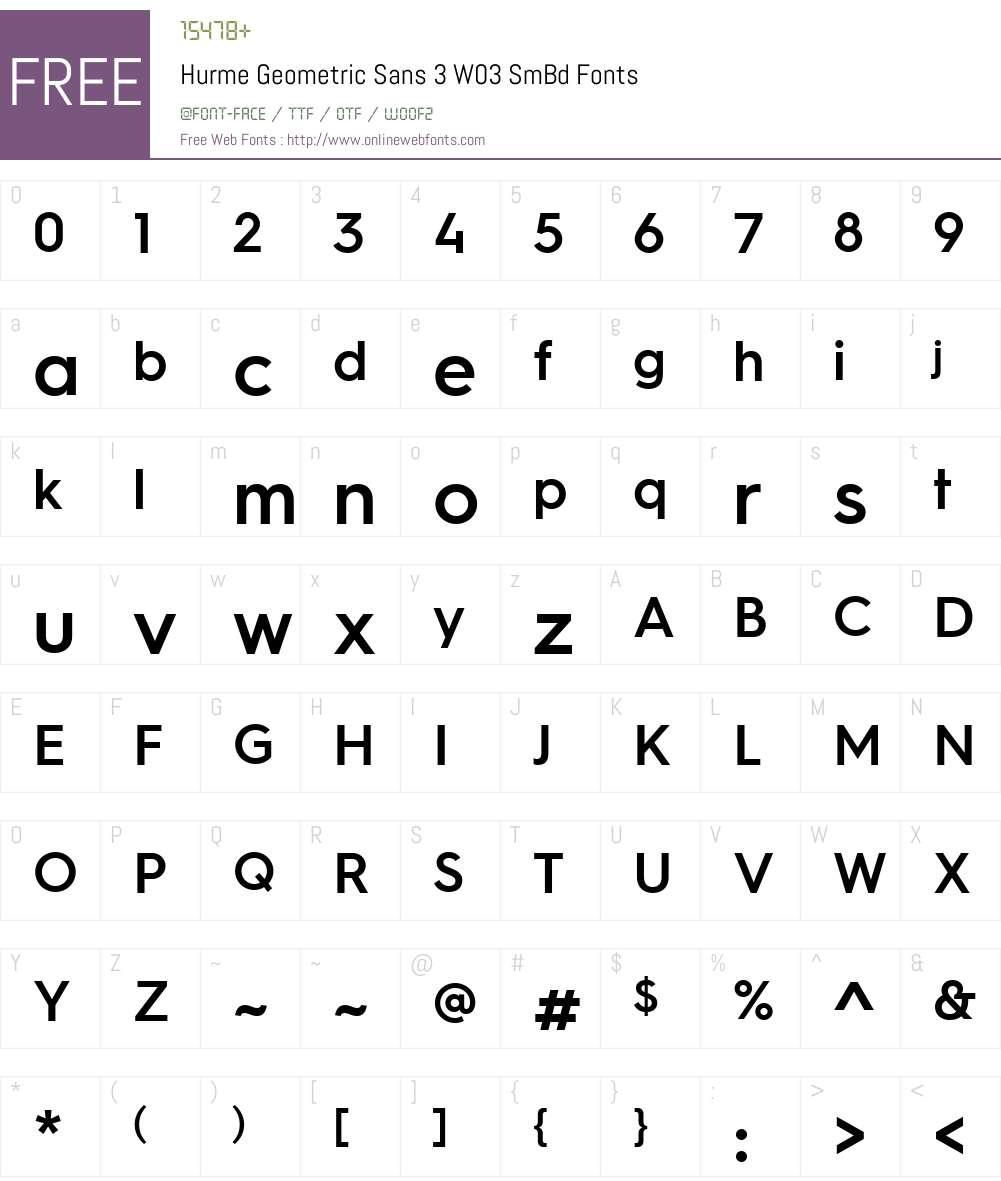 Hurme Geometric Sans 3 W03 SmBd 1.10 Fonts Free Download