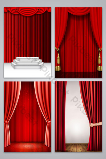 Curtain Vector Png : curtain, vector, Curtain, Vector, Templates, Download, Pikbest