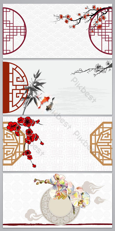 向量古典水墨傳統花紋中國風背景| AI 背景素材免費下載 - Pikbest