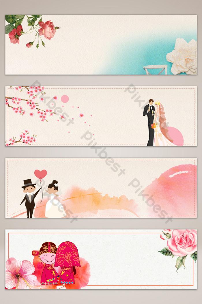 婚禮粉色浪漫橫幅海報背景| PSD 背景素材免費下載 - Pikbest
