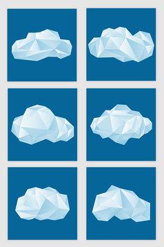 origami cloud vector material