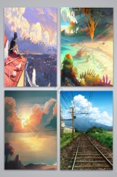 Anime Scenery Templates Free Psd & Png Vector Download Pikbest