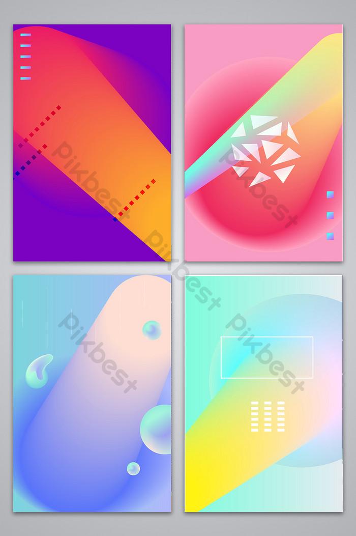 唯美夢幻幾何流體漸變風格漸變海報背景| AI 背景素材免費下載 - Pikbest