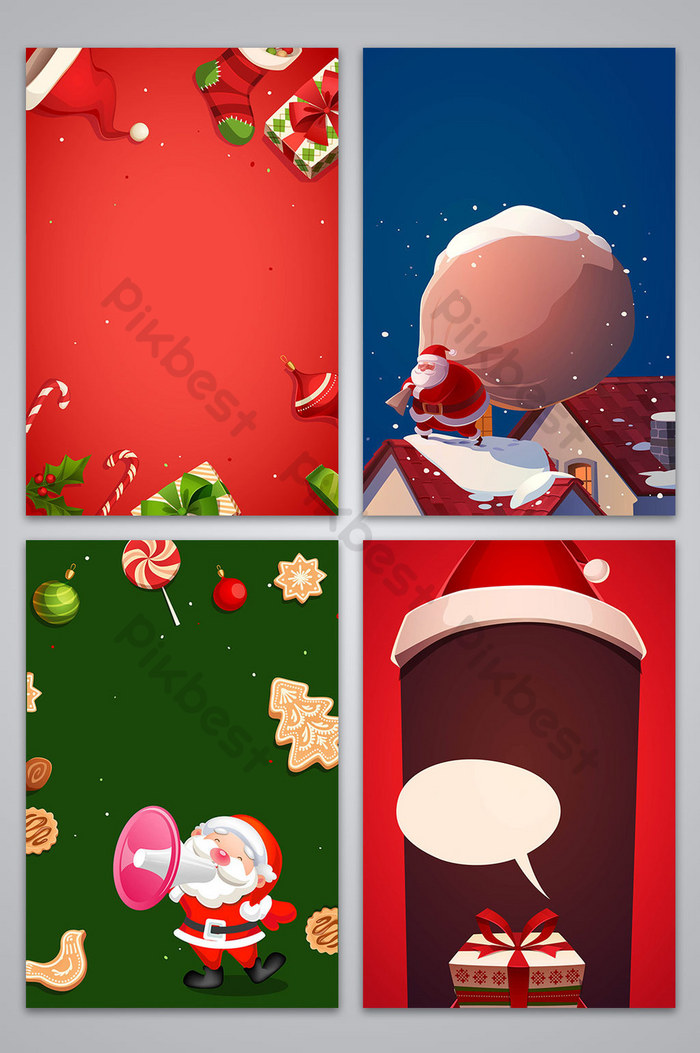矢量質感的卡通聖誕平安夜海報背景圖像| AI 背景素材免費下載 - Pikbest