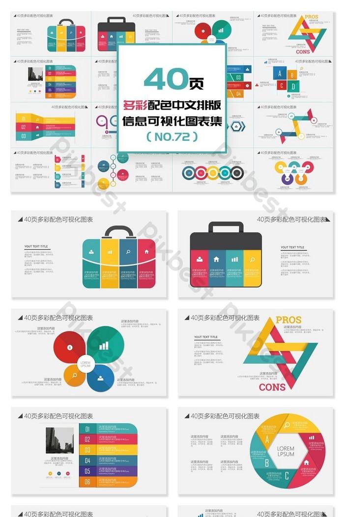 40頁多彩中文排版資訊視覺化PPT圖表 | PowerPoint素材PPTX免費下載 - Pikbest
