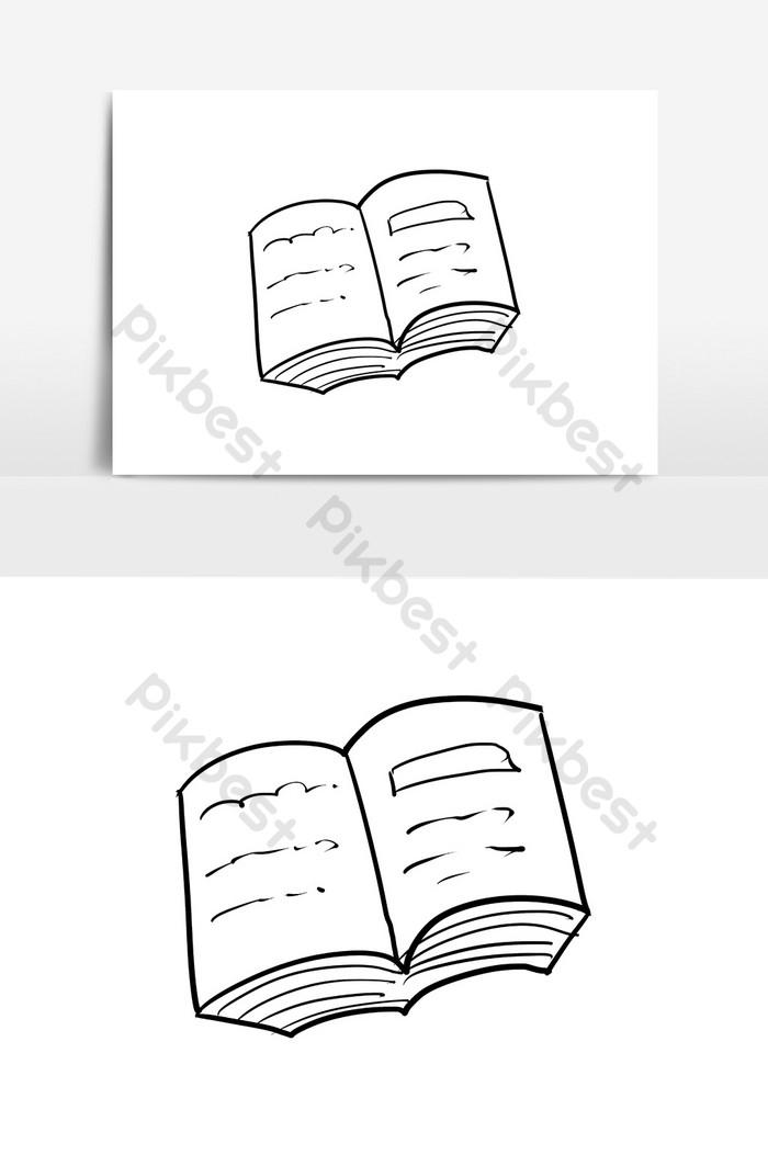 Gambar Buku Kartun Hitam Putih : gambar, kartun, hitam, putih, Elemen, Kamus, Vektor, Kartun, Digambar, Tangan, Grafis, Templat, Unduhan, Gratis, Pikbest