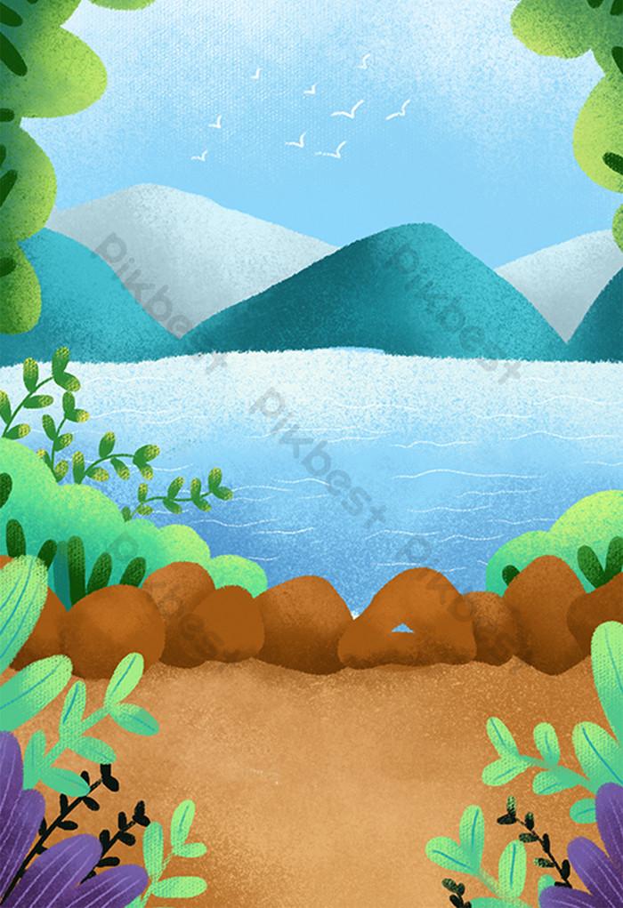 Gambar Pegunungan Kartun : gambar, pegunungan, kartun, Paling, Keren, Gambar, Kartun, Pemandangan, Pegunungan, Kumpulan