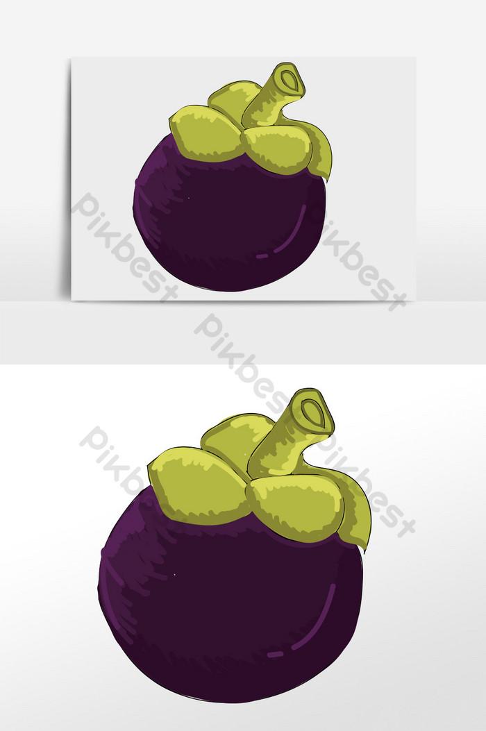 Gambar Manggis Kartun : gambar, manggis, kartun, Elemen, Manggis, Kartun, Ilustrasi, Percuma, Turun, Pikbest