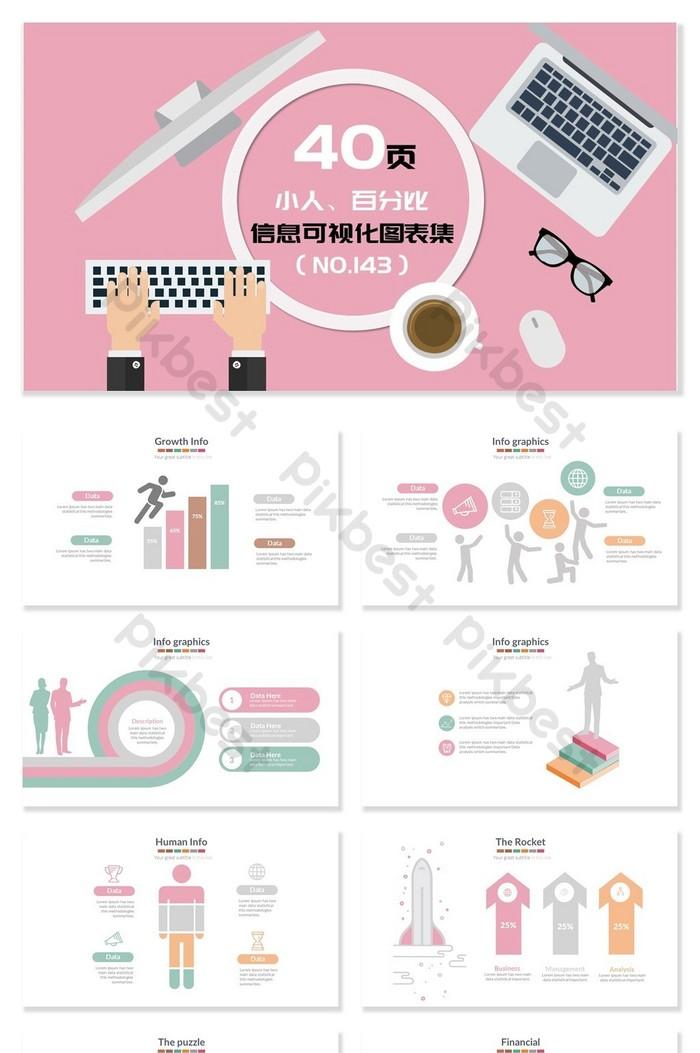 小人百分比比例視覺化PPT圖表   PowerPoint素材PPTX免費下載 - Pikbest