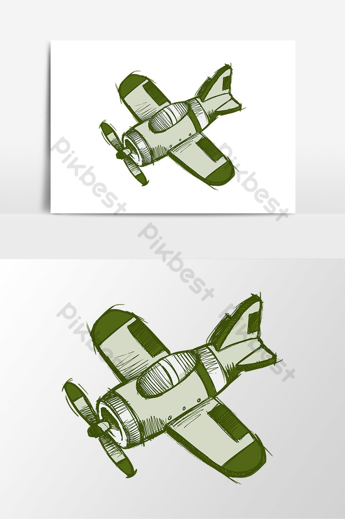 Small Airplane Drawing : small, airplane, drawing, Cartoon, Drawing, Propeller, Small, Airplane, Elements, Images, Download, Pikbest