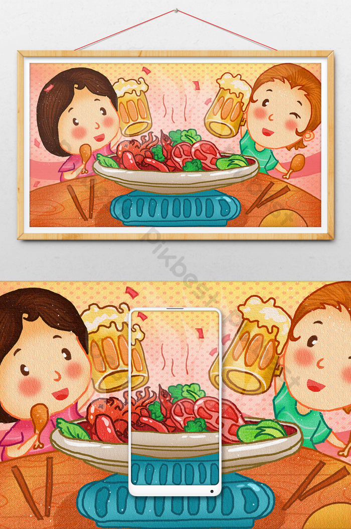 Gambar Kartun Sedang Makan : gambar, kartun, sedang, makan, Terbaru, Gambar, Kartun, Teman, Makan