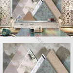 Modern Minimalist Aesthetic Personality Geometric Collage Marble Landscape Background Wall Decors 3d Models Psd Free Download Pikbest