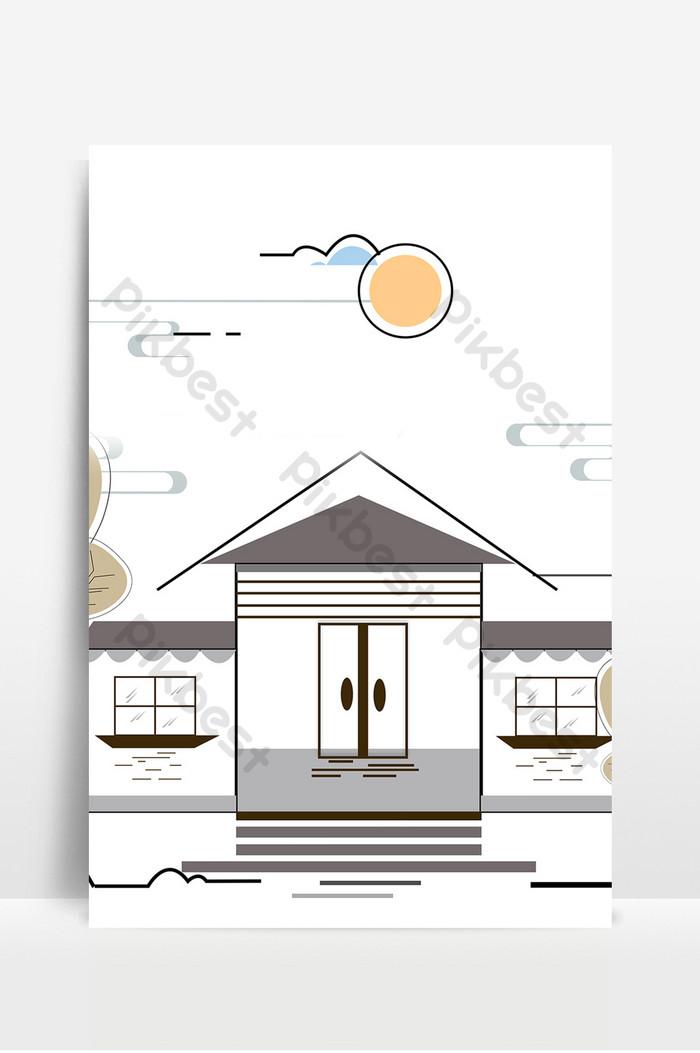 Background Gedung Animasi : background, gedung, animasi, 簡約卡通建築廣告設計背景圖片|, 背景素材免費下載-, Pikbest