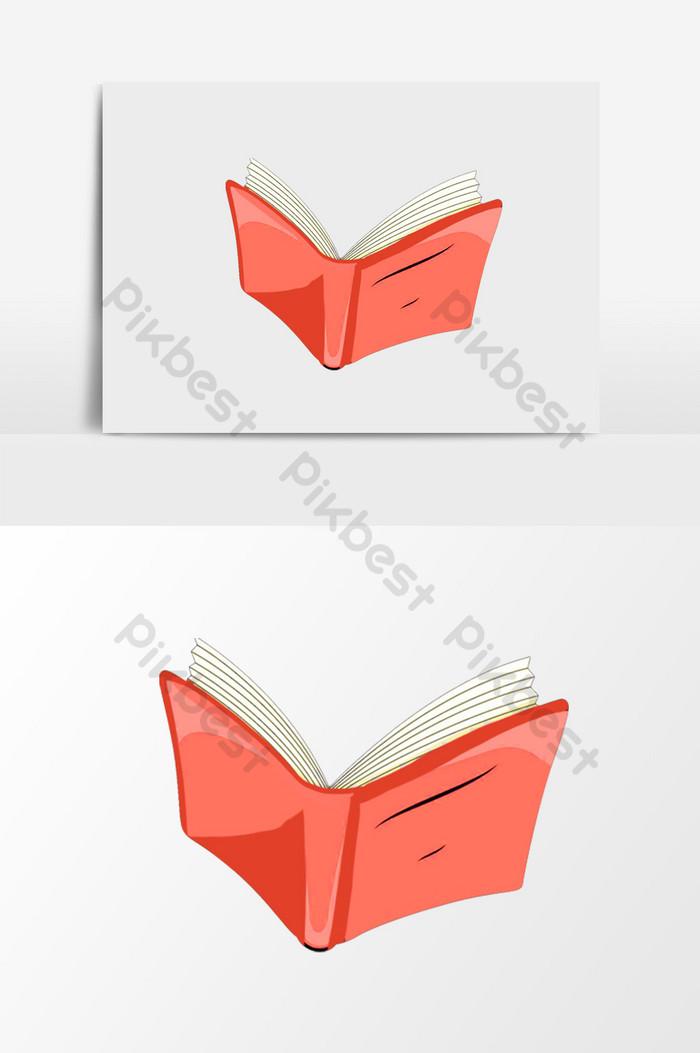 Gambar Kartun Buku Terbuka : gambar, kartun, terbuka, Kartun, Tombol, Gratis, Terbuka, Merah, Ilustrasi, Templat, Unduhan, Pikbest