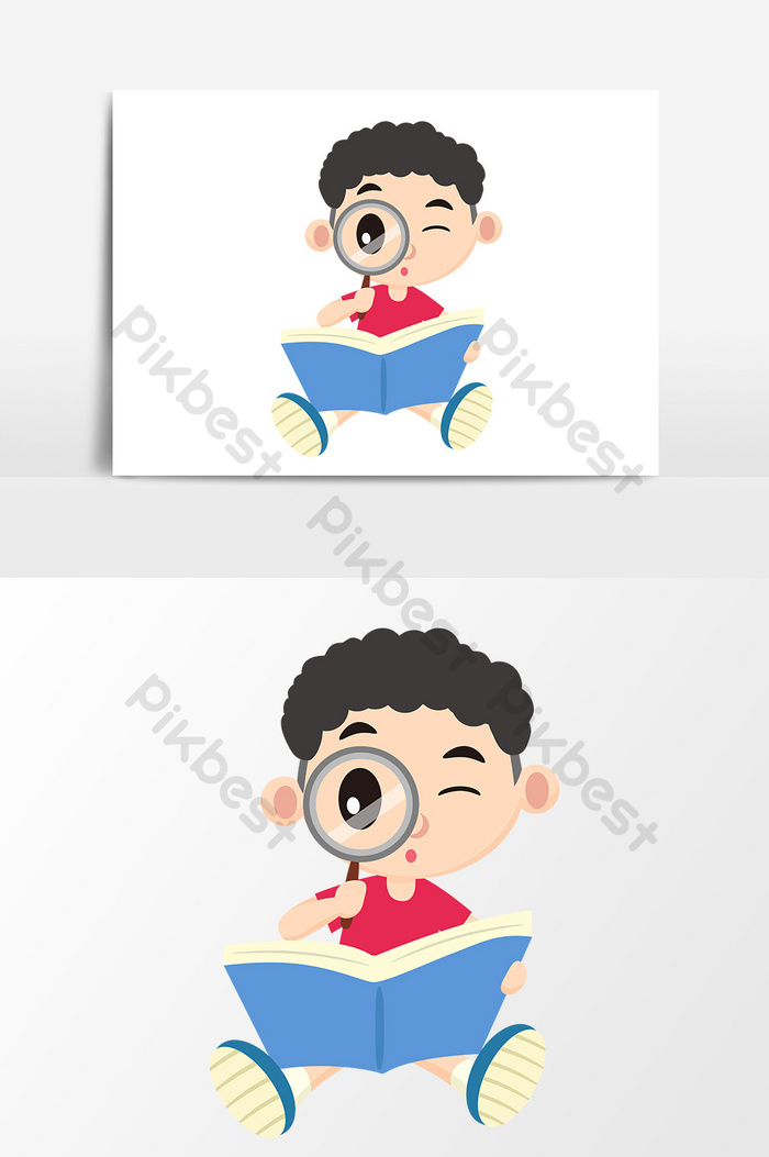 Kartun Anak Membaca Buku : kartun, membaca, Membaca, Dengan, Elemen, Digambar, Tangan, Kartun, Pembesar, Vektor, Grafis, Templat, Unduhan, Gratis, Pikbest