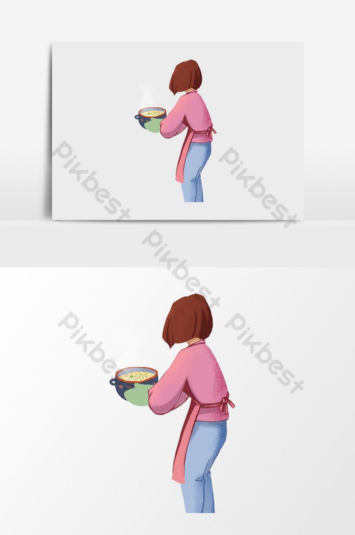 Gambar Ibu Sedang Memasak : gambar, sedang, memasak, Gambar, Memasak, Kartun