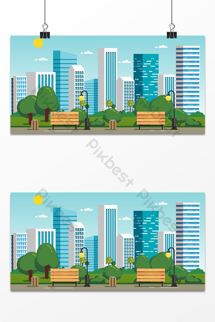 Background Animasi Kota : background, animasi, Summer, Design, Background, Backgrounds, Download, Pikbest