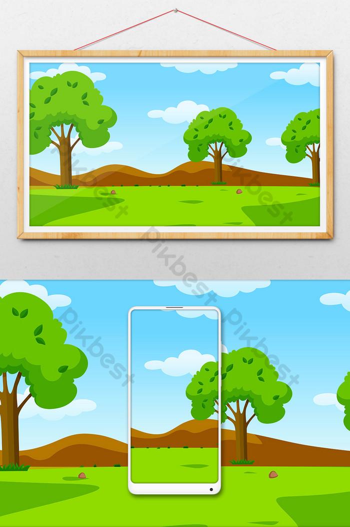 Gambar Pegunungan Kartun : gambar, pegunungan, kartun, Menakjubkan, Gambar, Pegunungan, Indah, Kartun, Pemandangan, Sekali