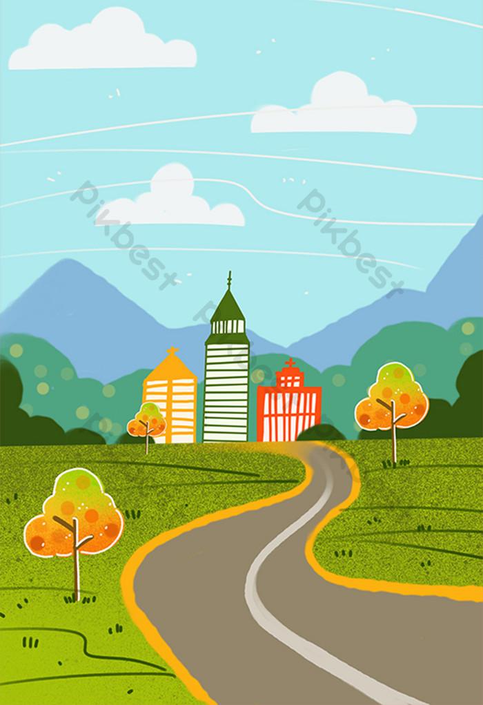 Background Animasi Kota : background, animasi, Unduh, Background, Animasi, Paling, Keren, Download